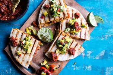 Fiesta-Chicken-Quesadillas-with-Chipotle-Relish-and-Mango-Salsa-7